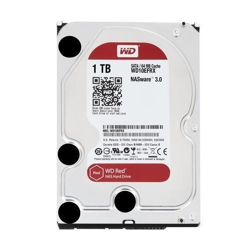 Hard Disk 1000GB 1TB Western Digital WD10EFRX 64MB Rosso NAS SATA 6 GB/s