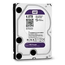Hard Disk 4000GB 4TB Western Digital WD40PURZ 64MB Purple SATA 6 GB/s
