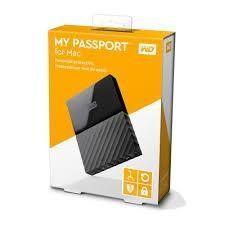 "Hard Disk Esterno 2,5"" Western Digital 1TB MyPassport Per Mac Usb 3.0 WDBFKF0010BBK Nero"