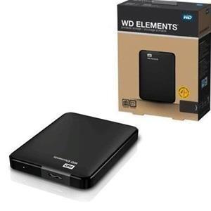 """Hard Disk Esterno Western Digital 2,5"""" 1000GB 1TB WDBUZG0010BBK Elements USB 3.0"""