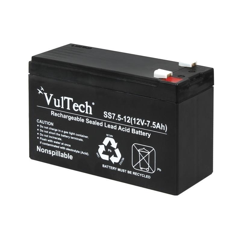 Batteria Ermetica al Piombo Per UPS Vultech GS-7AH 12V 7,5A