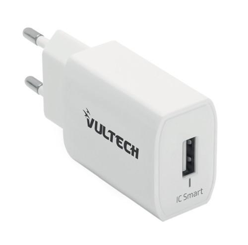 Caricatore Adattatore Universale Vultech CC-112WH 1 Porta Usb 2,4A 12W - Bianco