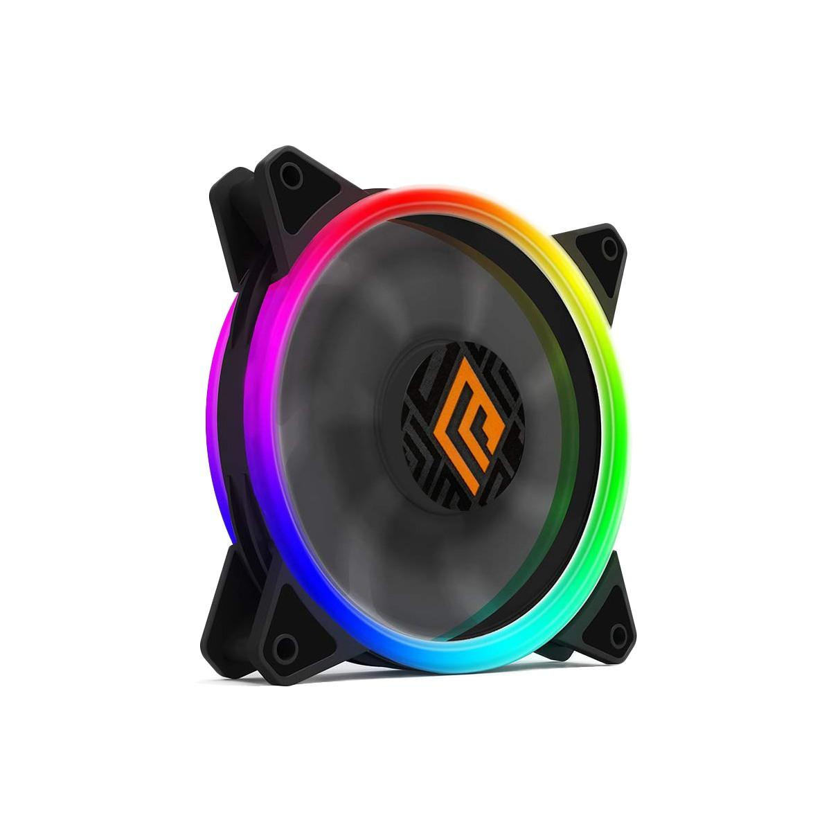 Ventola Noua Lips 1 Black 1200Rpm PWM 16 Led Dual Halo RGB Rainbow Addressable 120x120x25mm Antivibration