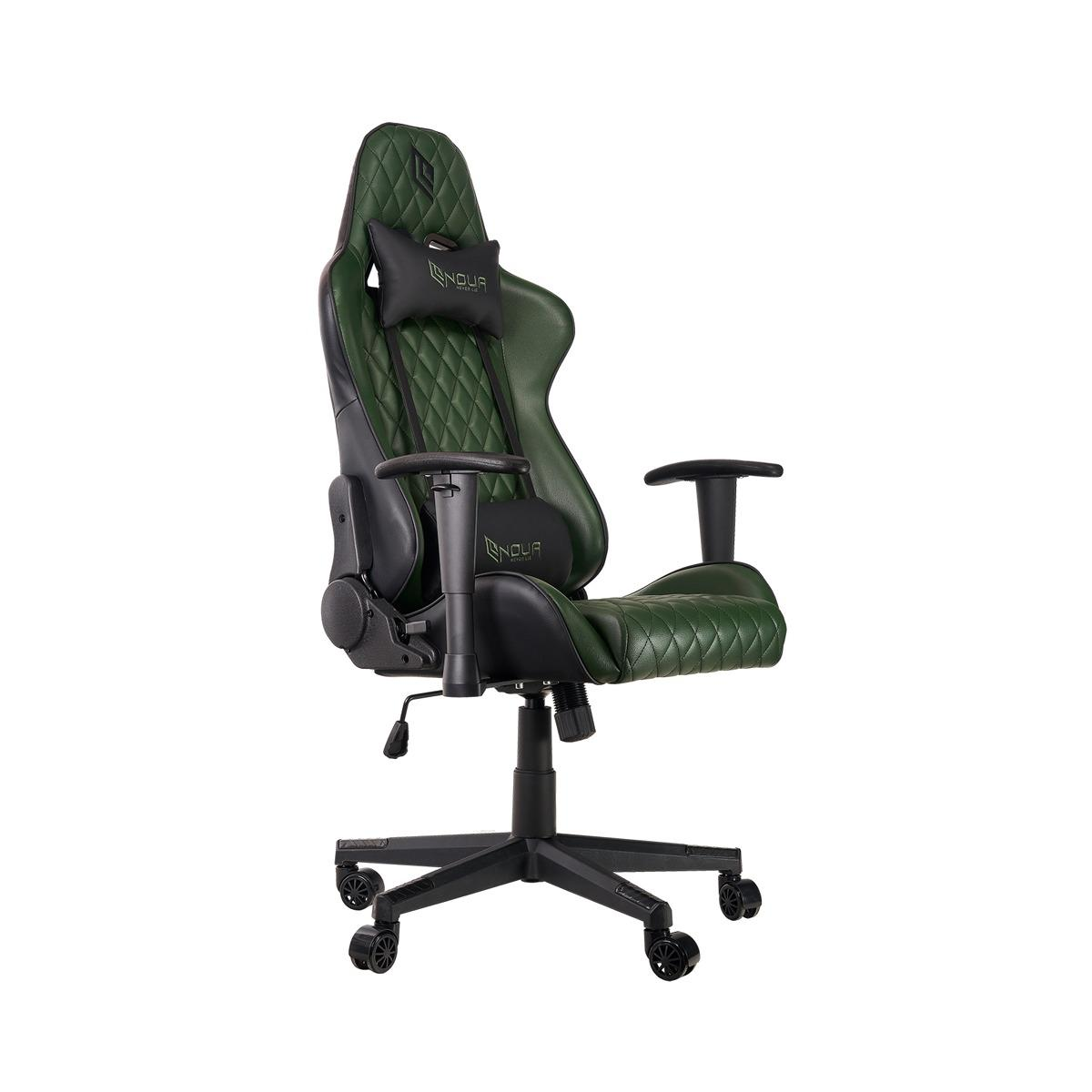Sedia Gaming Noua Kui K7 Black/Green Military Braccioli 2D e Schienale Inclinabile