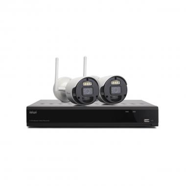 Kit Wireless Isiwi Connect2 ISW-K1N8BF2MP-2 NVR 8 Canali + 2 Telecamere IP 1080P Wireless con funzione PIR
