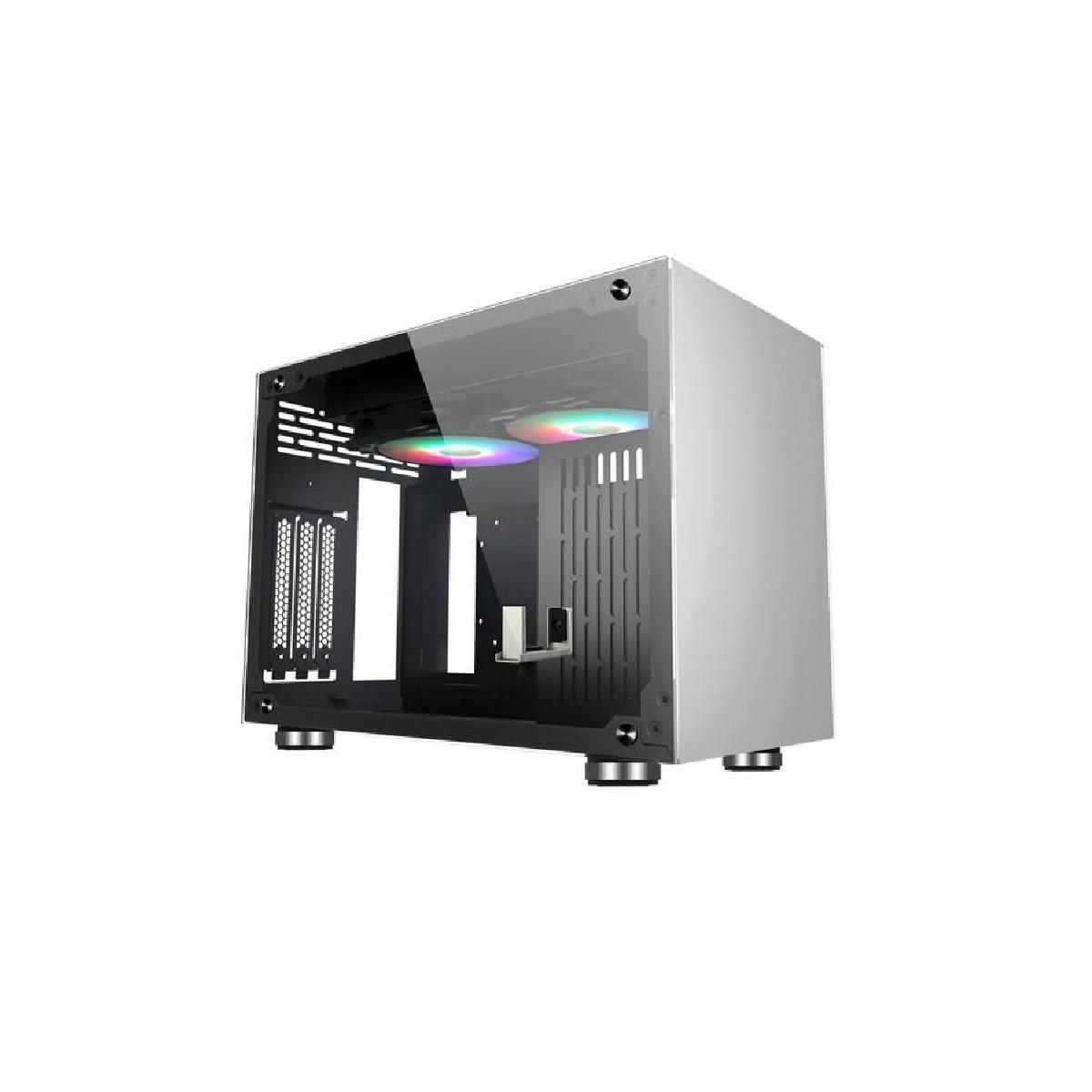 Case Mini-ITX Noua Parvus Q2 Metallo 4*USB3.0/2.0 Dual Side Glass