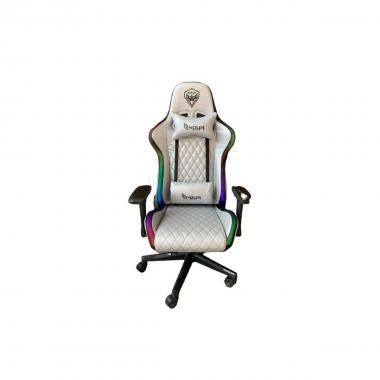 Sedia Gaming Noua RGB Mao M9 Silver Braccioli 4D Base Nylon Butterly Schienale Reclinabile