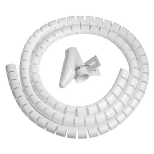 Spirale Avvolgi Cavo Flessibile Vultech 1.5 Mt SN21505/WH Bianca