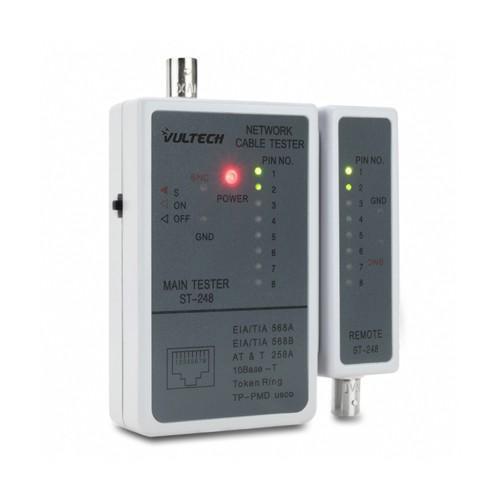 Tester Per Cablaggio Dati e Video Vultech T002 RJ45 BNC Coassiale