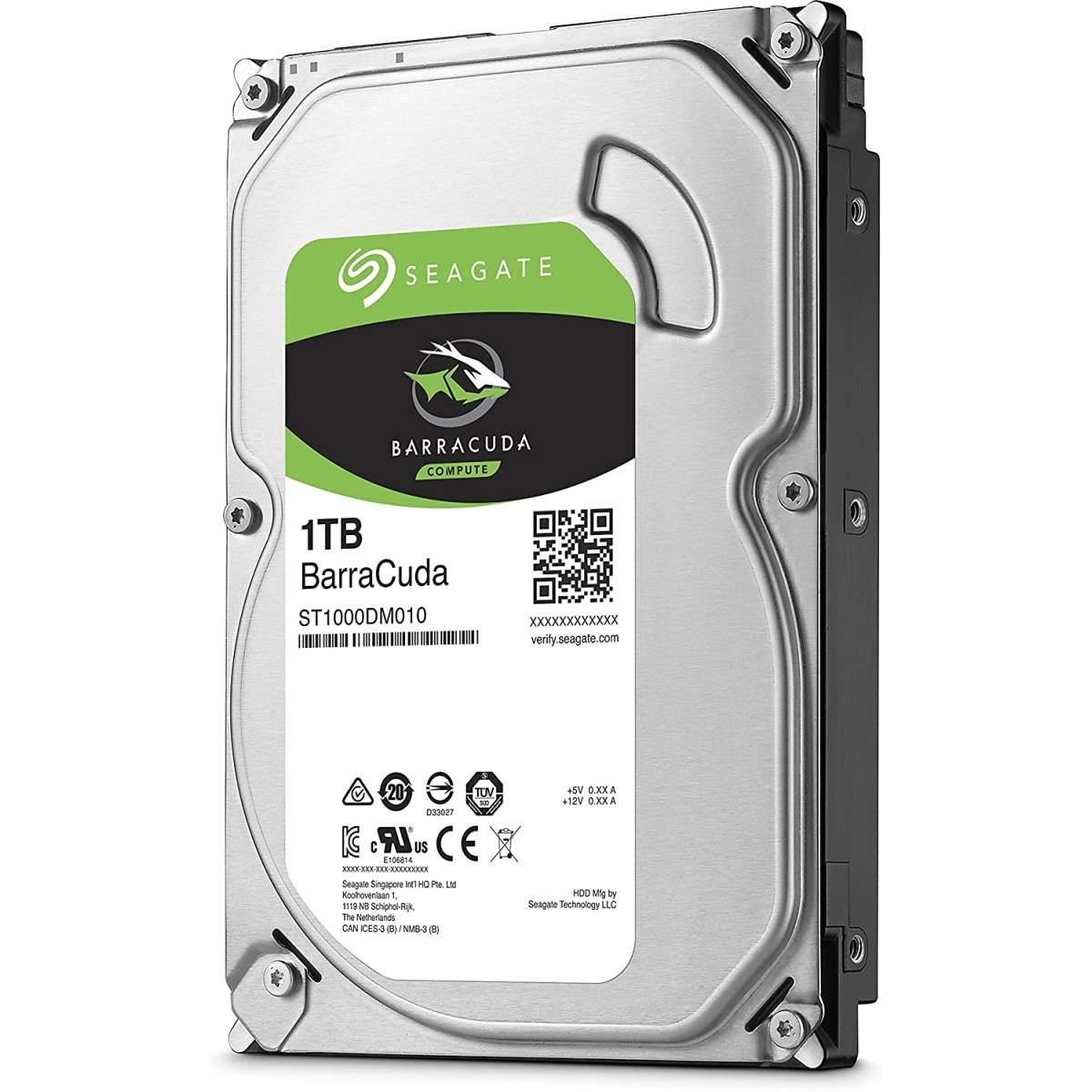 """Hard Disk 3.5"""" 1000GB 1TB Seagate ST1000DM010 Barracuda SATA 6Gb/s 7200rpm 64MB"""