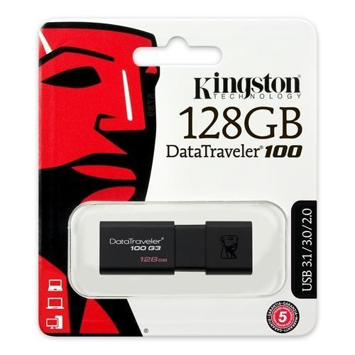 Pen Drive 128GB Kingston DT-100 USB 3.0 DT100G3/128GB
