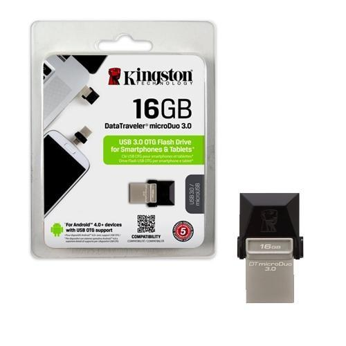 Pen Drive 16GB Kingston DT-Micro Duo Usb 3.0  DTDUO3/16GB