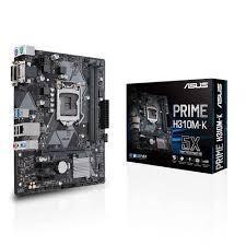 Scheda Madre 1151 Asus Prime H310M-K M-Atx 2xDDR4 DVI-D Porta Com USB3.1 SATA3 90MB0X80-M0EAY0