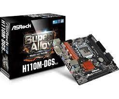 Scheda Madre 1151 AsRock H110M-DGS R3.0 M-Atx 2xDDR4 DVI-D USB3.0 SATA3