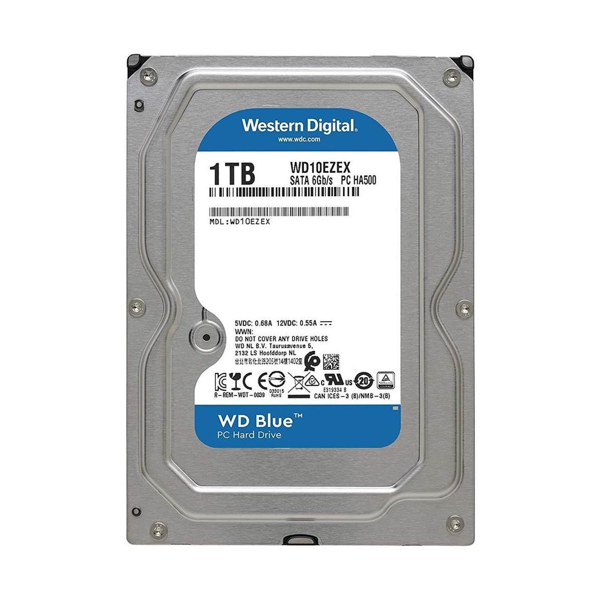 """Hard Disk 3.5"""" 1000GB 1TB Western Digital WD10EZEX Caviar Blue SATA III 7200Rpm 64MB"""