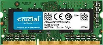 Memoria Ram SO-DIMM DDR3 1600 8GB CL11 Crucial  CT102464BF160B